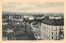 Olomouc Czech Republic Birdseye View Street View Antique Postcard K11345
