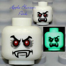 NEW Lego Glow in Dark VAMPYRE MINIFIG HEAD - Vampire/Monster Fighters/Dracula