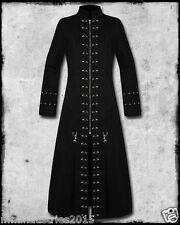 MEN GOTHIC PINHEAD STEAM PUNK TRENCH COAT  VICTORIAN VAMPIRE MATRIX GOTH