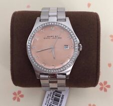 NEW Marc by Marc Jacobs MBM3360 Henry Rose Dial Crystal Watch! Super Fast Ship!!