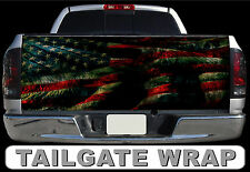 T191 DISTRESSED AMERICAN FLAG Tailgate Wrap Decal Sticker Vinyl Graphic Bed