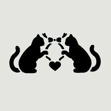 "2 1/2"" CAT STENCIL CATS ANIMAL HEART HEARTS TEMPLATES STENCILS TEMPLATE ART NEW"