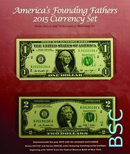 2015 Americas Founding Fathers Currency Set - Low Serial Number - Ship TODAY