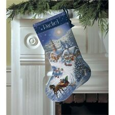 Dimensions Gold Collection Sleigh Ride At Dusk Stocking Counted Cross - 268088