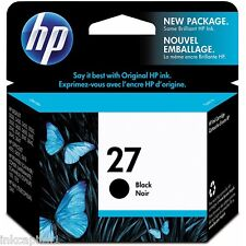 1 x HP Black Original OEM Inkjet Cartridge No 27 C8727A