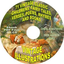 71 CLASSIC VINTAGE CHILDRENS EBOOK ON CD - FOR KIDS OF ALL AGES - PDF FORMAT