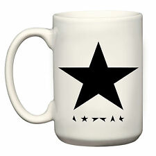 DAVID BOWIE BLACKSTAR LARGE GRANDE MUG CUP 15OZ TRIBUTE MUSIC FAN BLACK STAR