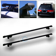 "49"" BLK SQUARE TYPE ROOF RAIL RACK CROSS BAR CARGO LUGGAGE CARRIER KIT+CLAMPS C5"