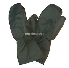 GORETEX OUTER TRIGGER FINGER MITTENS - OLIVE GREEN - SMALL SIZE - GRADE 1
