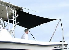 T-TOP Boat SUN SHADE KIT 4'L X 5'W will stretch to 6'L x 7'W BLACK UV BLOCK