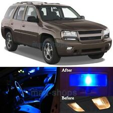 10Pcs Blue Interior LED Lights Package Kit for 2002-2009 Chevy Trailblazer MP