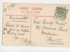 Miss Gladys Wright Cromwell Road Montpelier Bristol 1905  878a