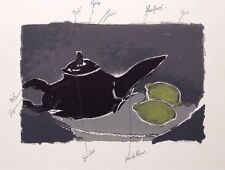 "GEORGES BRAQUE ltd ed vintage mounted lithograph, Mourlot, 1963, 14 x 11"" GB021"