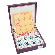 "Chinese Chess Set LARGE SOLID ACRYLIC 1.5""W HIGH QUALITY SET WOODING CASE"