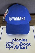 Yamaha Essential Cap Hat Blue White Pro Fishing Boating Baseball