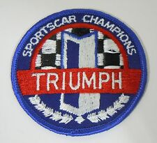 TRIUMPH-Sportscar Champions Iron-On British Automotive Patch 2.75""