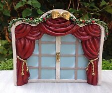 Miniature FAIRY GARDEN Mini Village ~ Nutcracker CHRISTMAS French Door Backdrop