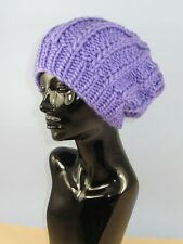 KNITTING PATTERN INSTRUCTIONS-SUPER CHUNKY FISHERMANS RIB SLOUCH HAT-QUICK  KNIT