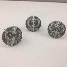 Stile Vintage in Ceramica Grigio scuro/bianco MODELLO Porta/Cassetto Pomello Manico da cucina