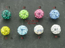 PiercingKugel plastificati epossidico MULTI Crystal COVER 1, filo 2MM