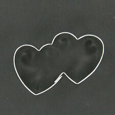 MINIATURE MINI DOUBLE HEART METAL COOKIE CUTTER STENCIL PARTY FAVOR FONDANT LOVE