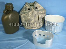 4 Pc 1 QUART CANTEEN KIT w/ 1QT ACU Digital Camo COVER & ALUMINUM CUP, STOVE NEW