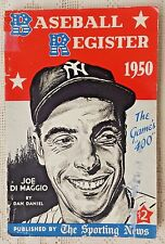VINTAGE 1950 EDITION - THE SPORTING NEWS BASEBALL REGISTER - JOE DIMAGGIO COVER