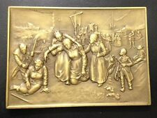 RELIGIOUS / CHRISTIANITY RELIGIOUS PROMISES / LARGE BRONZE MEDAL / 245 grs. M89