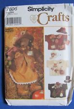 "Simplicity Crafts 7606 Vintage Sewing Pattern Bear Dress Hats Jackets 31"" Teddy"