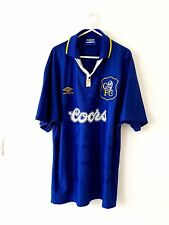 Chelsea Home Shirt 1995. Large. Umbro. Blue Adults L Short Sleeves Football Top.