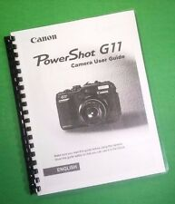 Color Laser Printed Canon Camera Power Shot G11 User Manual Guide 193 Pages