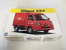 Aoshima 1/24 Scale Model Kit Japan Post Car Subaru Sambar Kei Truck