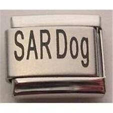 RARE LASER ITALIAN CHARM SAR DOG SEARCH AND RESCUE PUPPY 9MM BRACELET RARE NEW