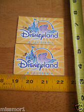 Disneyland 2004 Club 33 not usable! lot of 2 tickets parkhopper VIP USED!