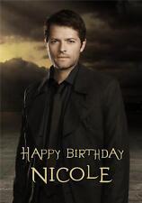 Personalised Misha Collins cartolina di Compleanno