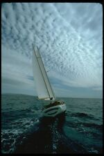 007036 Ketch Aft With Mackerel Sky A4 Photo Print