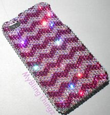 PINK  ZIG ZAG 12SS Crystal Rhinestone Case for iPhone 4 4S w/ Swarovski Elements