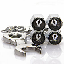 4x Auto Car Tyre Stems Air Cover Valve Caps + Wrench Keychain For