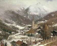 Heiligen Blut - am Grossglockner Austria Church - Thomas Kinkade Dealer Postcard