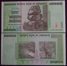 8X ZIMBABWE 50 TRILLION DOLLARS CURRENCY 2008 AA SERIES! | OVER 100 IN STOCK!