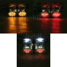 LED Motorcycle ATV Turn Signal Brake License Plate Integrated Tail Light Chrome