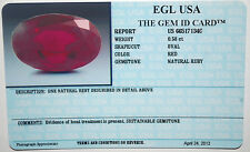 EGL USA CERTIFIED OVAL CUT RED NATURAL RUBY 0.58 CT LOOSE GENUINE GEMSTONE