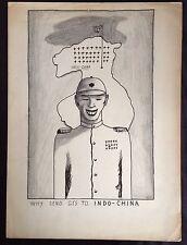 Original 1954 Color Pencil Art Drawing~Stanley Kulza ~ GI's to Indo-China War ?