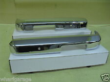 FORD ESCORT Mk2 Front 1/4 Quarter Bumpers Chrome On Steel Pair.
