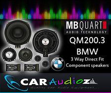 MB Quart QM200.3 BMW 3 way Custom Fit CAR Speakers BMW 1 Series E81 E82  E87 E88