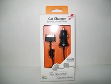 Tech & Go 6ft Cable 30-Pin  Car Charger Input 12-24VDC Output 5V 2.1Amp DC New