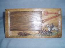 Solid oak Hand Carved and Painted Swaine & Adeney Hunting Appointment Holder.