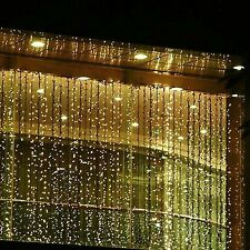 BinTeng 300led Window Curtain Icicle Lights String Fairy Light Wedding Party ...