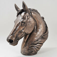 Horse  Bronze Head Sculpture Eventers Sempers Bust H26cm By Harriet Glen 33711