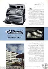 Registrierkasse National XL Reklame 1956 Augsburg Kasse Geld Tresor Werbung ad